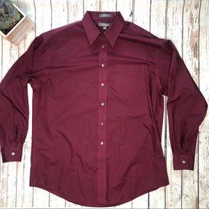 men's croft & barrow maroon button down shirt